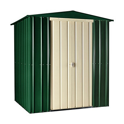Image for Lotus Heritage Green Apex Metal Shed - 6x6ft from StoreName