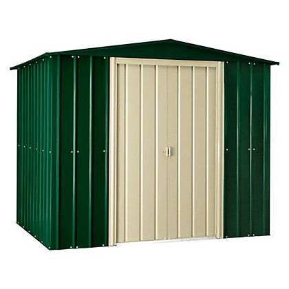 Image for Lotus Heritage Green Apex Metal Shed - 8x3ft from StoreName