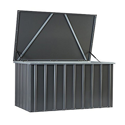 Image for Lotus Anthracite Grey Metal Storage Box - 5x3ft from StoreName