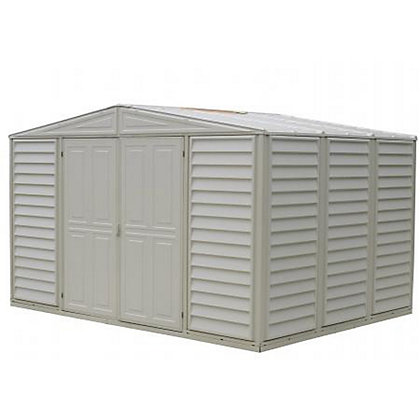 Image for Woodbridge Cream Plastic Apex Shed - 10x8ft (Includes Foundation Kit) from StoreName