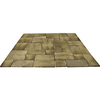 Brett Walton Paving Mixed Size Patio Pack 7.61sq m 33 Pack - Mink