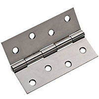 Chrome Plated Butt Hinges - 2 Pieces - 100mm
