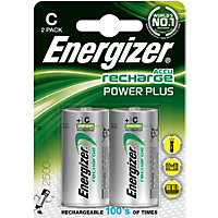 Energizer Rechargeable C 2500mAh Batteries - 2 Pack