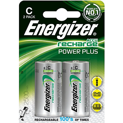 Image for Energizer Rechargeable C 2500mAh Batteries - 2 Pack from StoreName