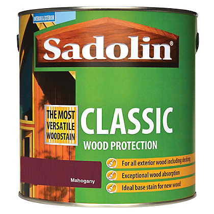 Image for Sadolin Classic Woodstain - Mahogany - 2.5L from StoreName
