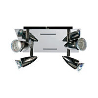 Comet 4 Plate Spotlight - Black Chrome