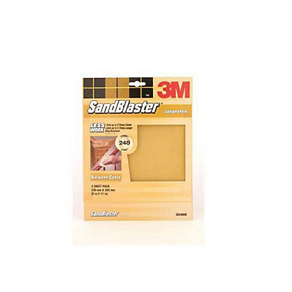 Image for 3M P240 SandBlaster Sandpaper - Very Fine - 3 Pack from StoreName