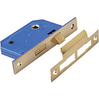 Bathroom Lock - Brass Effect - 64mm