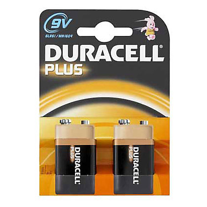 Image for Duracell Plus 9V Batteries - 2 Pack from StoreName
