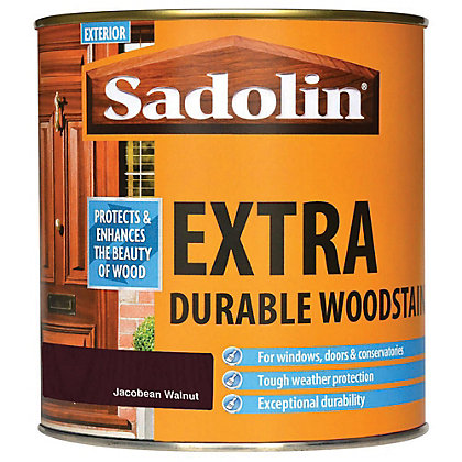 Image for Sadolin Extra Durable Woodstain - Jacobean Walnut - 1L from StoreName