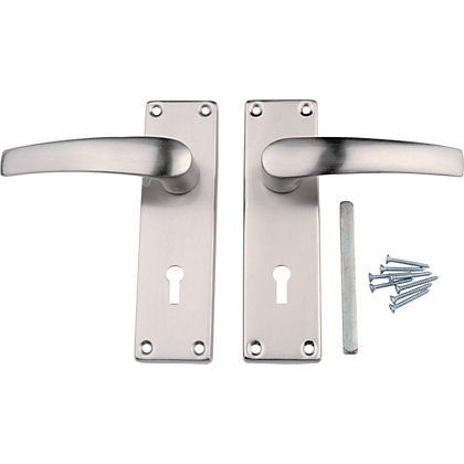 Image for Value Lever Lock Handle - Brushed Nickel from StoreName