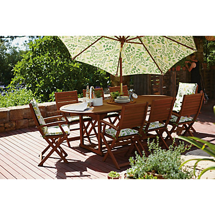 Peru 8 Seater Extending Garden Furniture Set