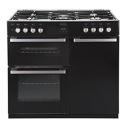 Image for Belling DB4 90DFT Dual Fuel Range Cooker - Black from StoreName