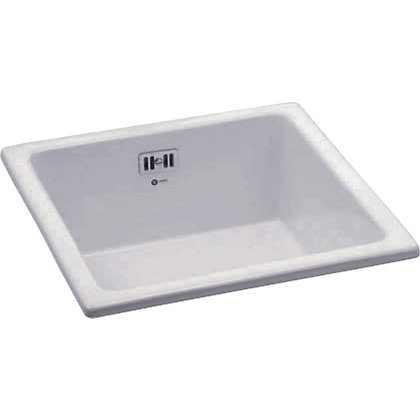 Image for Carron Phoenix Waterford 100 Reversible Undermount White Sink - 1 Bowl from StoreName