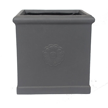 Lead effect square planter 45cm at homebase be for Lead planters for sale