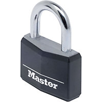 Master Lock Black Covered Aluminium Padlock - 40mm