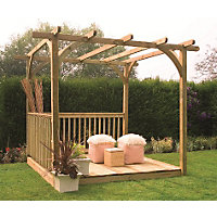 Forest Ultima Pergola Deck Kit - 8x8