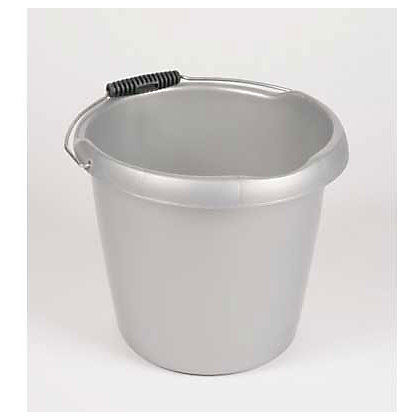 Image for Curver Bucket - Silver - 10L from StoreName