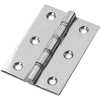 Image for Bronze Washer Hinge Chrome - 75mm - Pack of 2 from StoreName