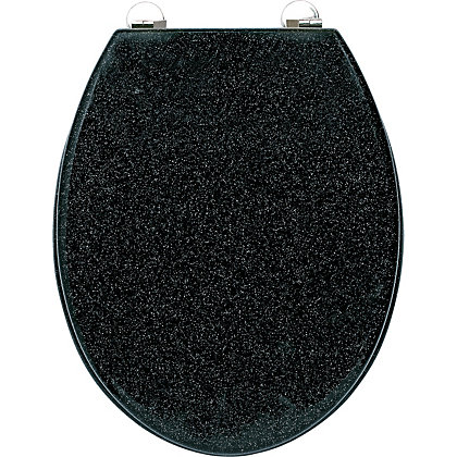 Image for Black Glitter Toilet Seat from StoreName