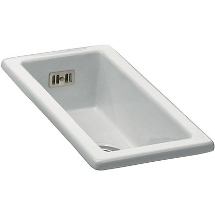 Image for Carron Phoenix Waterford 50 Ceramic Undermount Kitchen Sink - 1 Bowl from StoreName