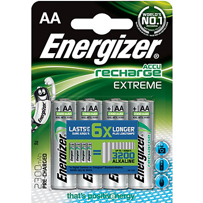 Image for Energizer Rechargeable AAA 800mAh Batteries - 4 Pack from StoreName