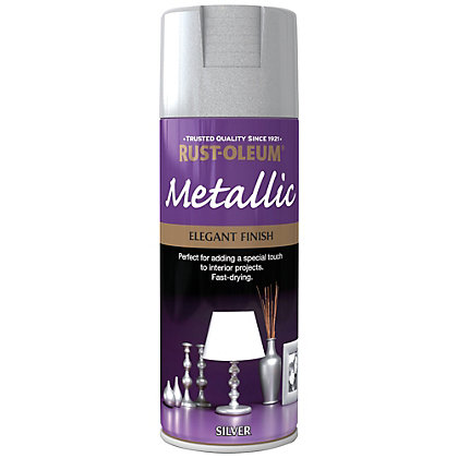 Image for Rust-Oleum Silver - Metallic Spray Paint - 400ml from StoreName