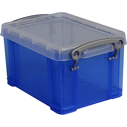 Image for Really Useful Storage Box - Blue - 1.6L from StoreName