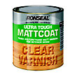 Ronseal  UltraTough Matt Coat Clear Varnish - 2.5L