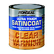 Ronseal UltraTough Satin Coat Clear Varnish - 2.5L