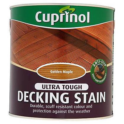 Image for Cuprinol Anti Slip Decking Stain Golden Maple - 2.5L from StoreName