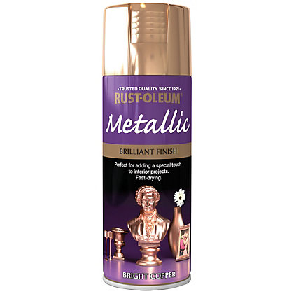 Image for Rust-Oleum Bright Copper - Metallic Spray Paint - 400ml from StoreName