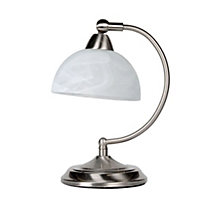 Roland Table Lamp - Satin Nickel - 26.5cm