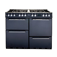 New World 1000DF Dual Fuel Range Cooker - Charcoal.
