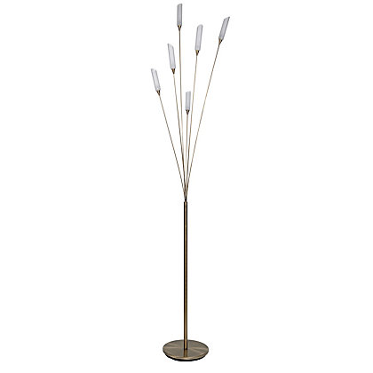 Hyatt 6 Light Floor Lamp Black Chrome Swing Arm Floor Lamp At Homebase Be Inspired And Make