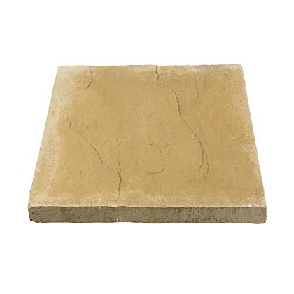 Image for Brett Riven Paving Single Size Patio Pack 600x600mm 10.80sq m 30 Pack - Buff from StoreName