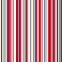 Sophia Stripe Wallpaper - Red
