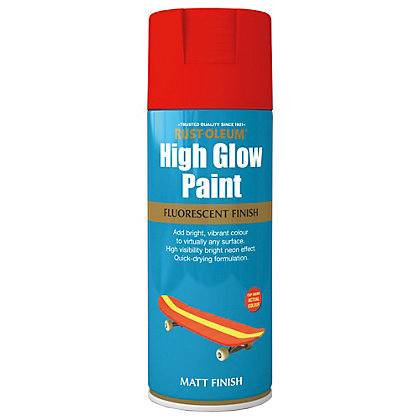 Image for Rust-Oleum High Glow Spray Paint - Red Orange - 400ml from StoreName
