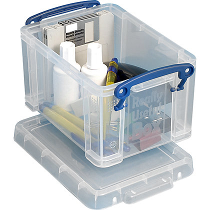 Image for Really Useful Storage Box - Clear - 1.6L from StoreName