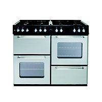 New World 100DFT Dual Fuel Range Cooker - Silver.