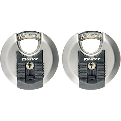 Image for Master Lock Excell Discus Padlock - 2 x 70mm from StoreName