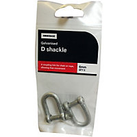 Dee Shackle Galv - 6mm - 2 Pack