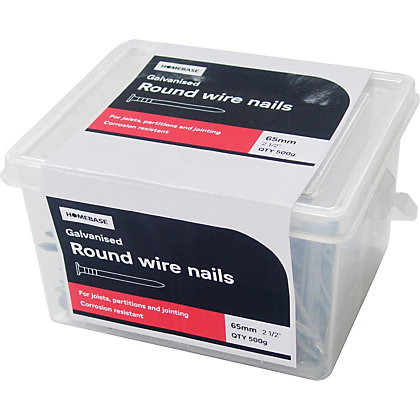 Image for Round Wire Nail - Galvanised - 65mm - 500g from StoreName