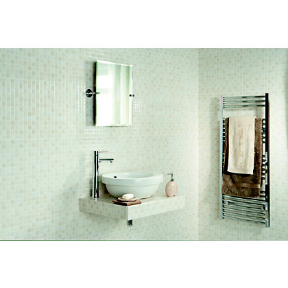 Image for Riva Beige Mosaic Effect Ceramic Wall Tiles - 10 Pack from StoreName