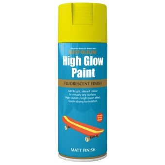 rust oleum high glow spray paint yellow 400ml. Black Bedroom Furniture Sets. Home Design Ideas
