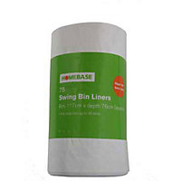 Big Value White Swing Bin Liners - 75 Pack