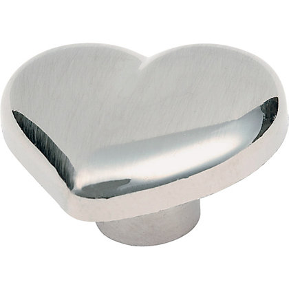 Image for Heart Shaped Door Knob - Brushed Nickel Effect from StoreName