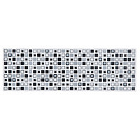 Squares Border Tiles - Grey - 250 x 80mm - 4 Pack
