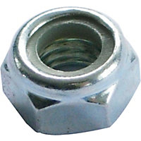 Locking Nut - Bright Zinc Plated - M6 - 10 Pack
