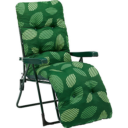 Image for Weston Relaxer Metal Sun Lounger - Green from StoreName